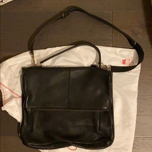 Heavy duty pebbled leather bag